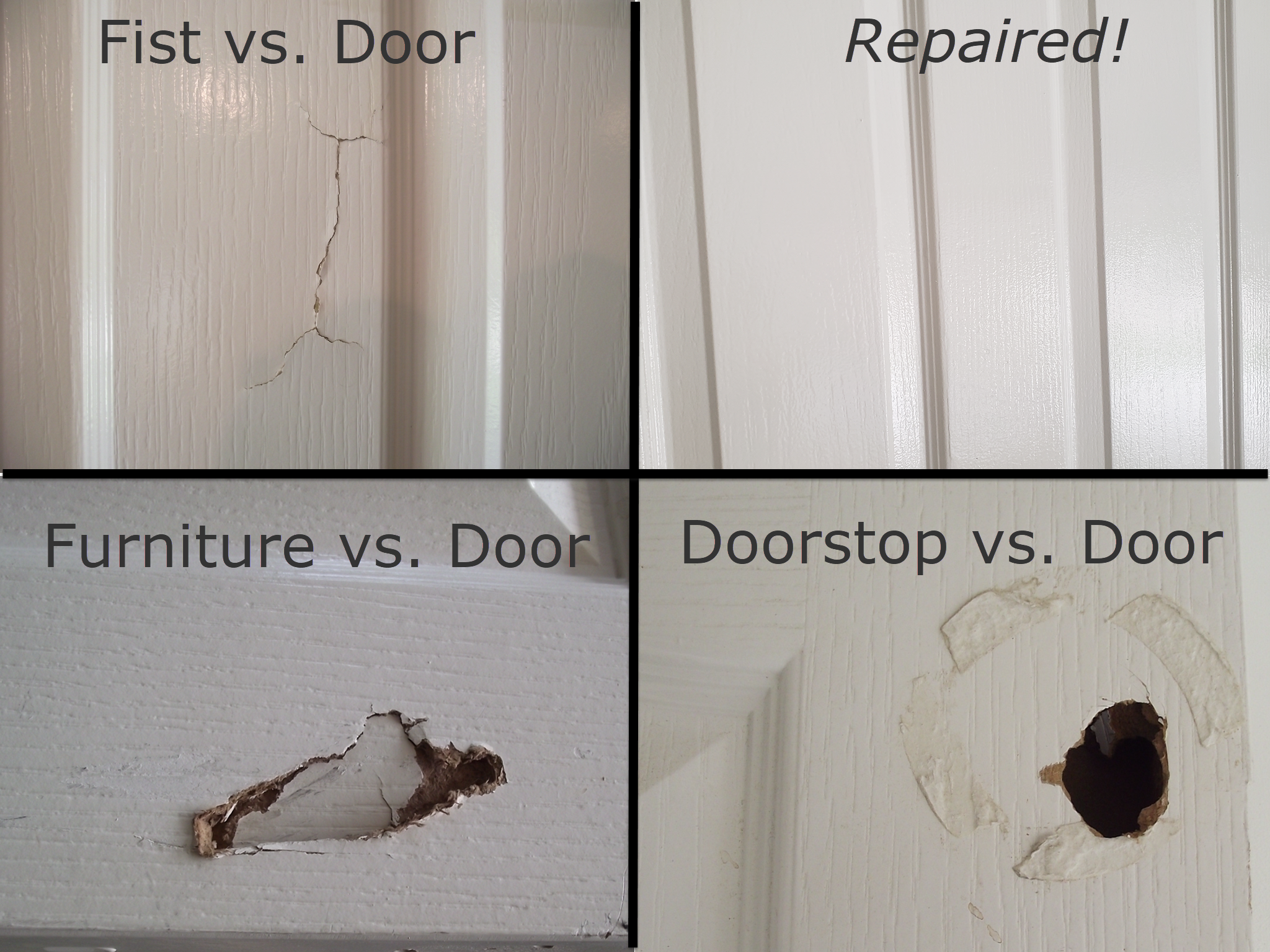 Picture of How to Fix a Hole in a Hollow Core Door