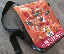 Make a Backpack From Reusable Shopping Bags