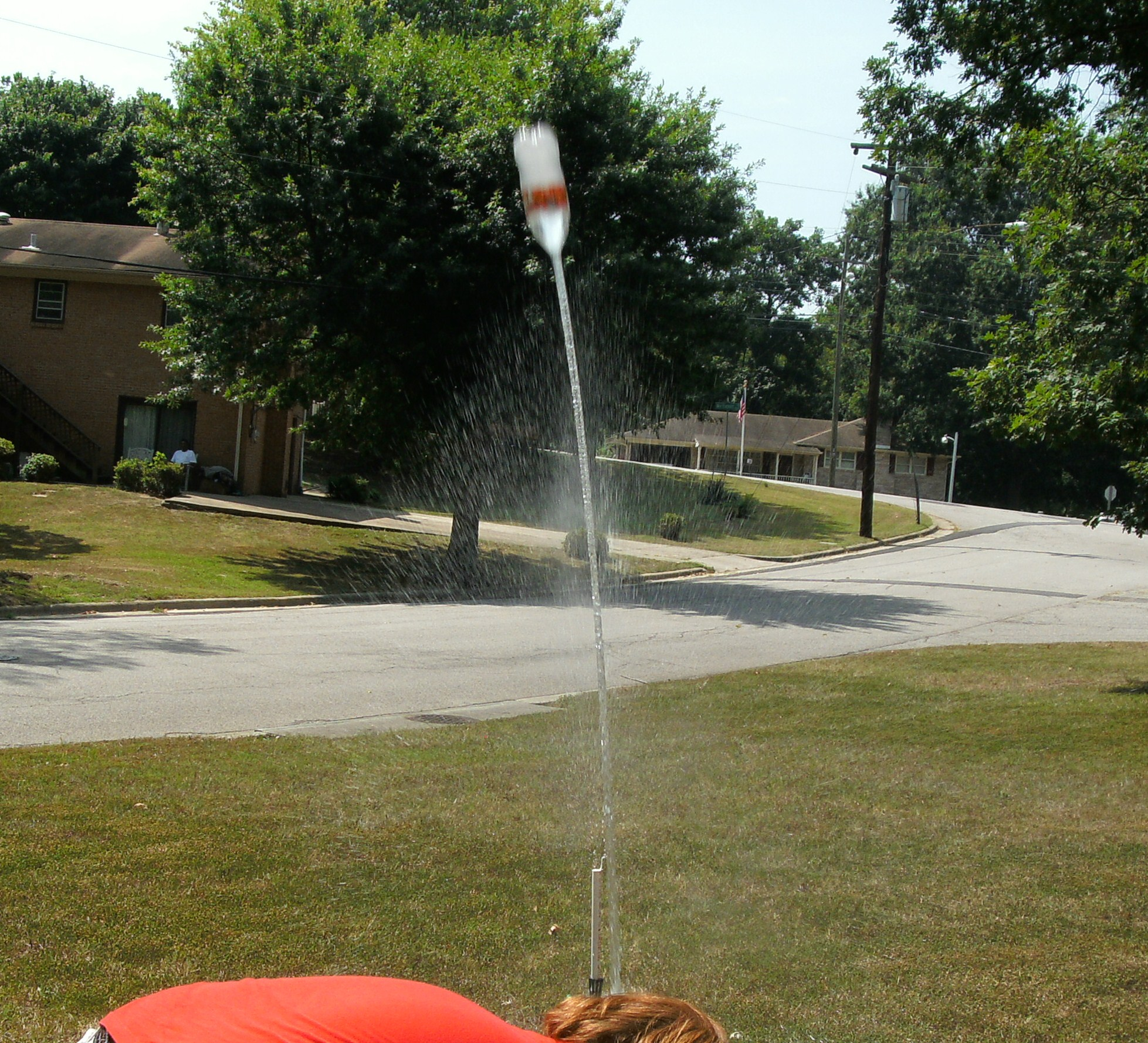 Picture of Bottle Rocket Launcher: the Cheap, Doesn't Get You Wet Edition
