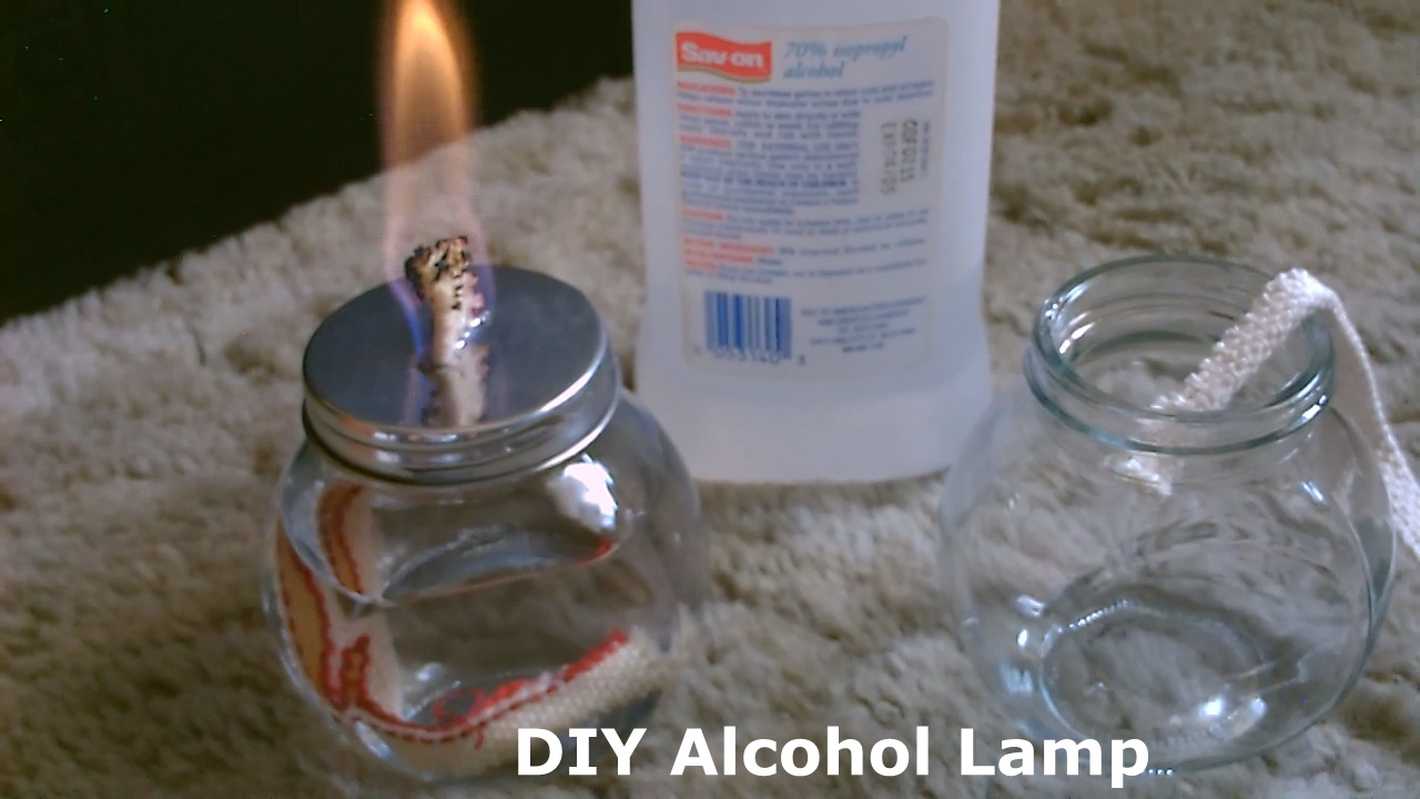 Picture of DIY Alcohol Lamp - W/quick (stove Conversion) - Burns Standard Isopropyl (rubbing Alcohol)