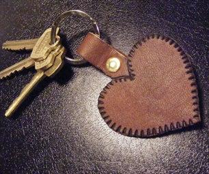 Simple Heart Keychain Fob