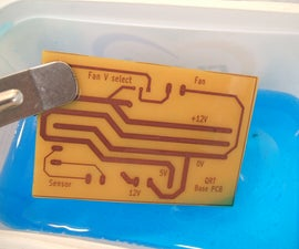 Printed Circuit Board Production using UV Nail Curing Lamp