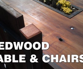 Redwood Table & Chairs