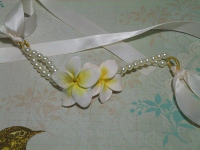 Glamorous Plumeria Choker/Bracelet Made From Polymer Clay