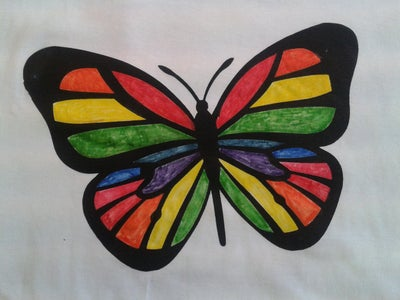 Low-cost Screen Printed Colouring-in T-shirts