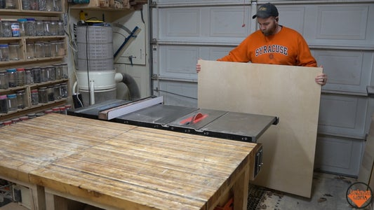 Cutting the Plywood to Size