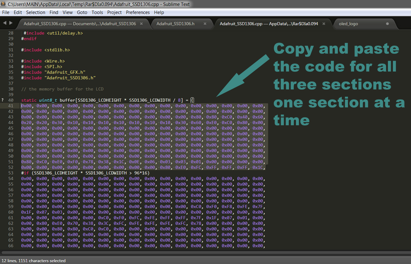 Picture of Copy Your Logo Code to Replace the Adafruit Logo Code