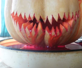 Bleeding pumpkin fountain