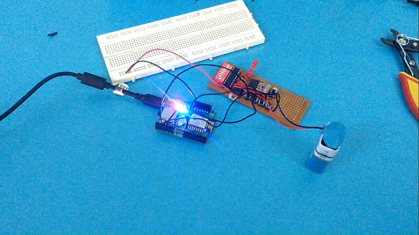Picture of Connect IOT Bolt to Transmitter Circuit