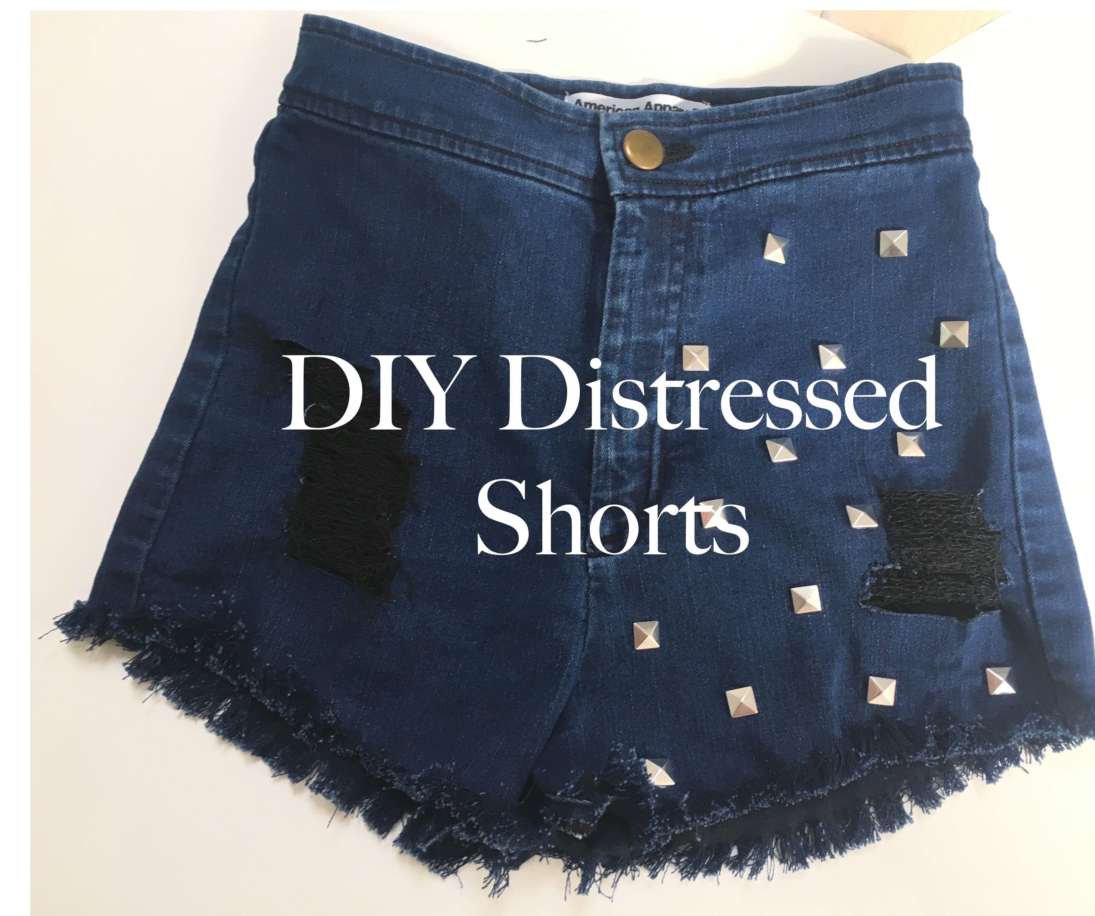 DIY Distressed Shorts