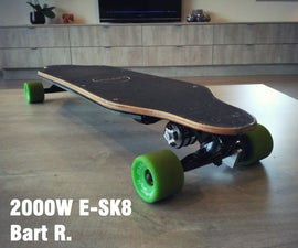 Powerful 2000W Electric Longboard