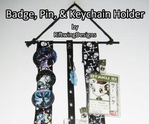Badge, Pin, & Keychain Holder Wall Art