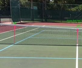 Pickle Ball Net Adjustment for Tennis Court
