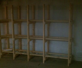 Bin storage shelving (the easy way)