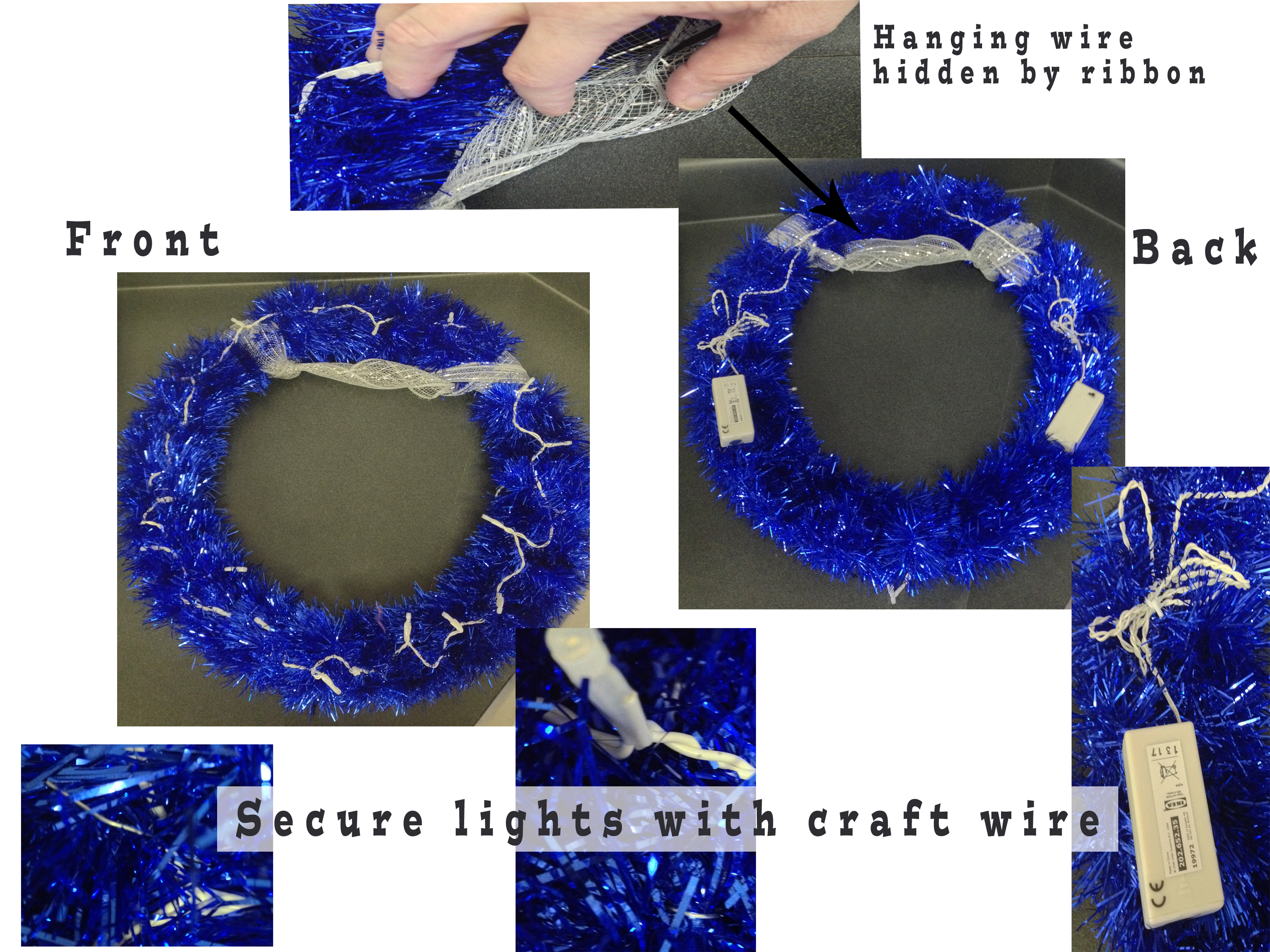 Picture of Layout: Wrap Wreath With Garland & Add Lights