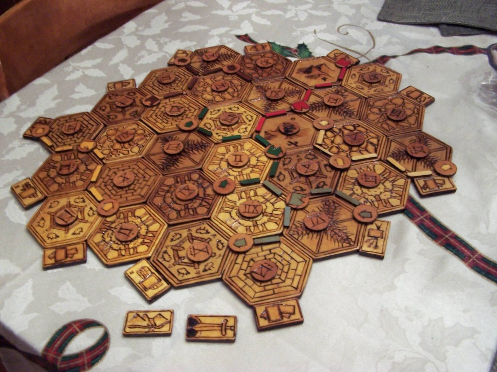 Wood Burned Settlers Of Catan Board 5 Steps With Pictures