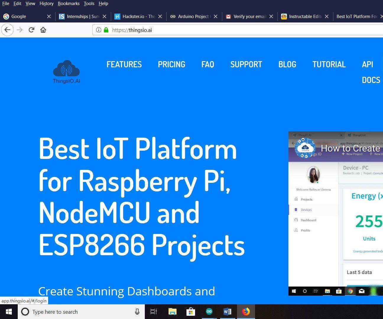 QnA VBage Motion Detector Using Thingsai.io Iot Cloud Platform