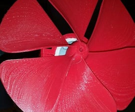 Inductive 3D Printed Fan