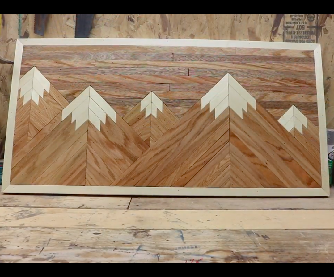 Wood Mountain Wall Decor : 7 Steps (with Pictures ...