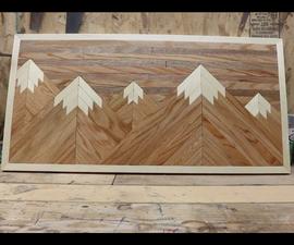 Wood Mountain Wall Decor