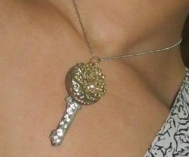 Up-cycled Key pendant