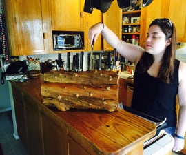 Driftwood Knife Rack