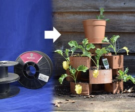 Stackable 3D Filament Spool Garden