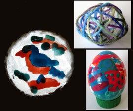 3 Easy Crafts using Nail Polish and Eggshells