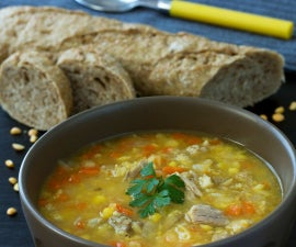 Split Pea Soup with Pork Ribs
