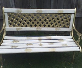 Redesigning an Old Bench into a Stylish Gold Beauty