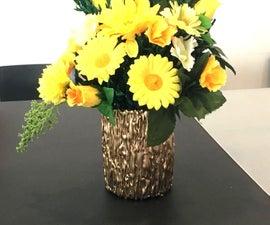 Textured Vase Out of a Broken Mug