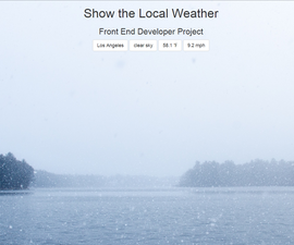 Open Weather API - Show the Local Weather Project