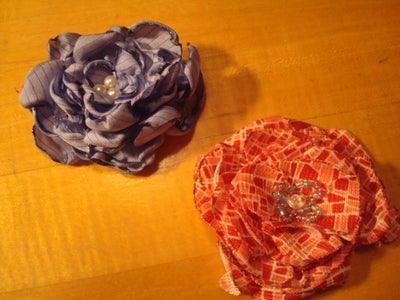 More Brooch Flower Pins From Grandma's Blouses