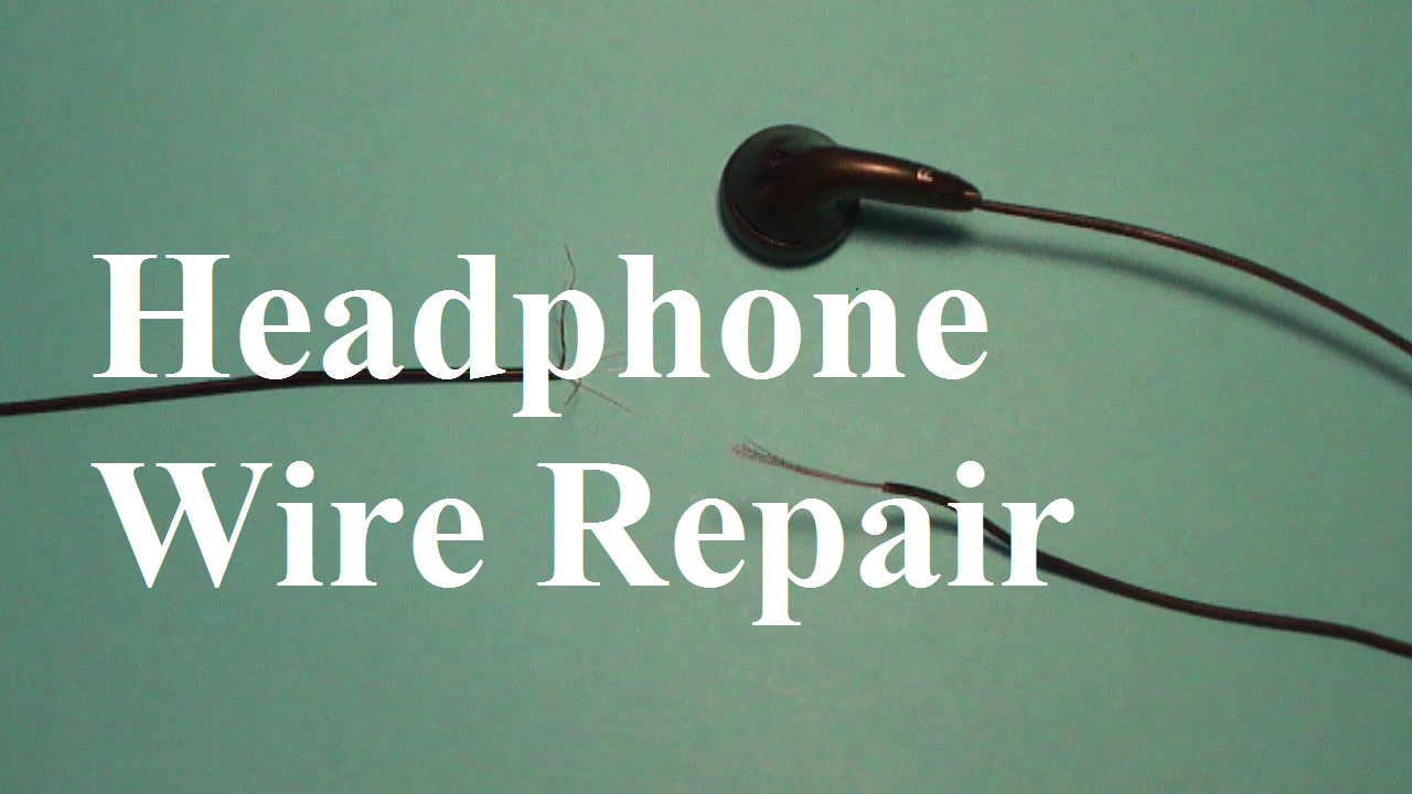 How to Repair Headphone Wires
