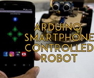 Smartphone Controlled Arduino Robot