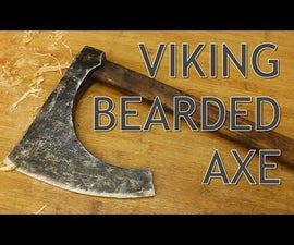 Wooden Viking Bearded Axe