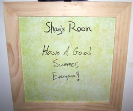 Customizable 12x12 Dry-Erase Board
