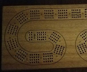 4 Track Cribbage Board