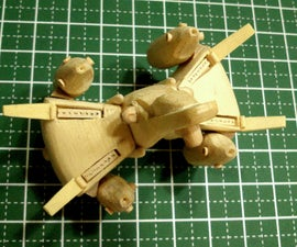 Mini Gunstar Popsicle Stick Model