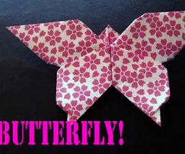 Beautiful Butterfly Origami Tutorial!