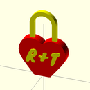 Love lock made with an 3D printer