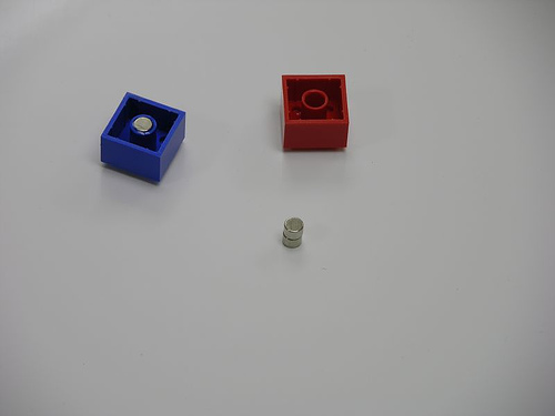 Picture of Put the Magnets in the Lego Brick