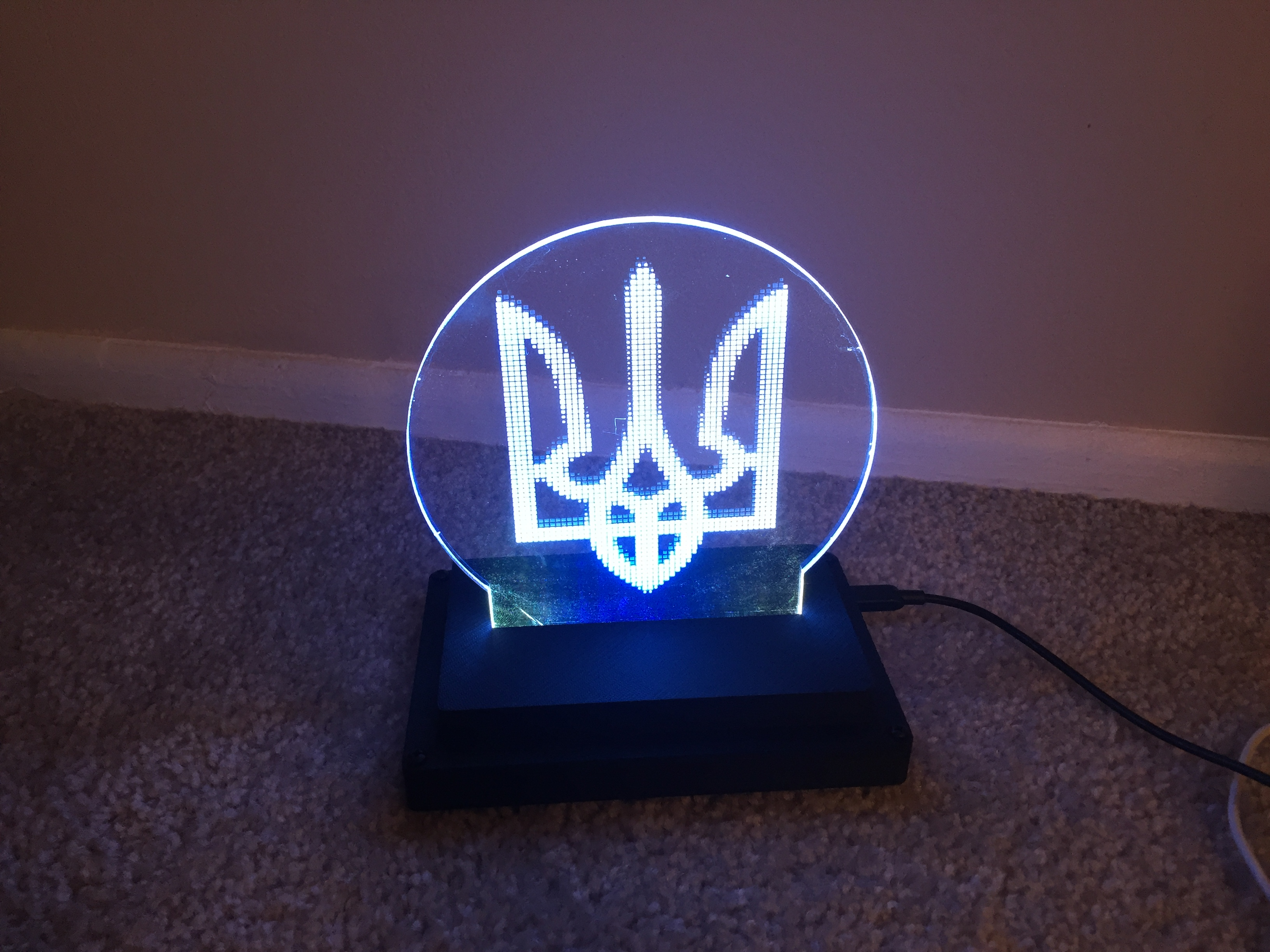 Picture of 2D Art With Programmable LEDs and Customizable Base and Logo