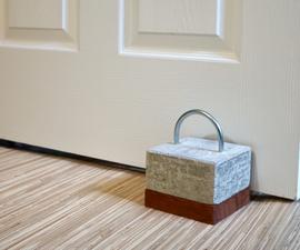 Concrete and Wood Door Stop