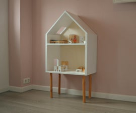 Modern Dollhouse Made From Plywood.