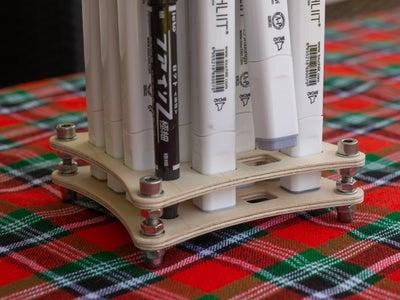 Make a Marker Rack - Desktop Furniture