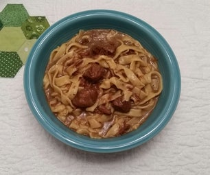 Homemade Brown Noodles