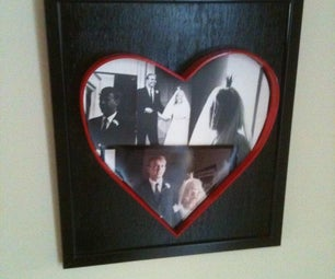 Heart Shaped Picture Frame From Scrap Metal - Valentines Gift