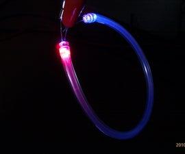 Fiber optic LED bling