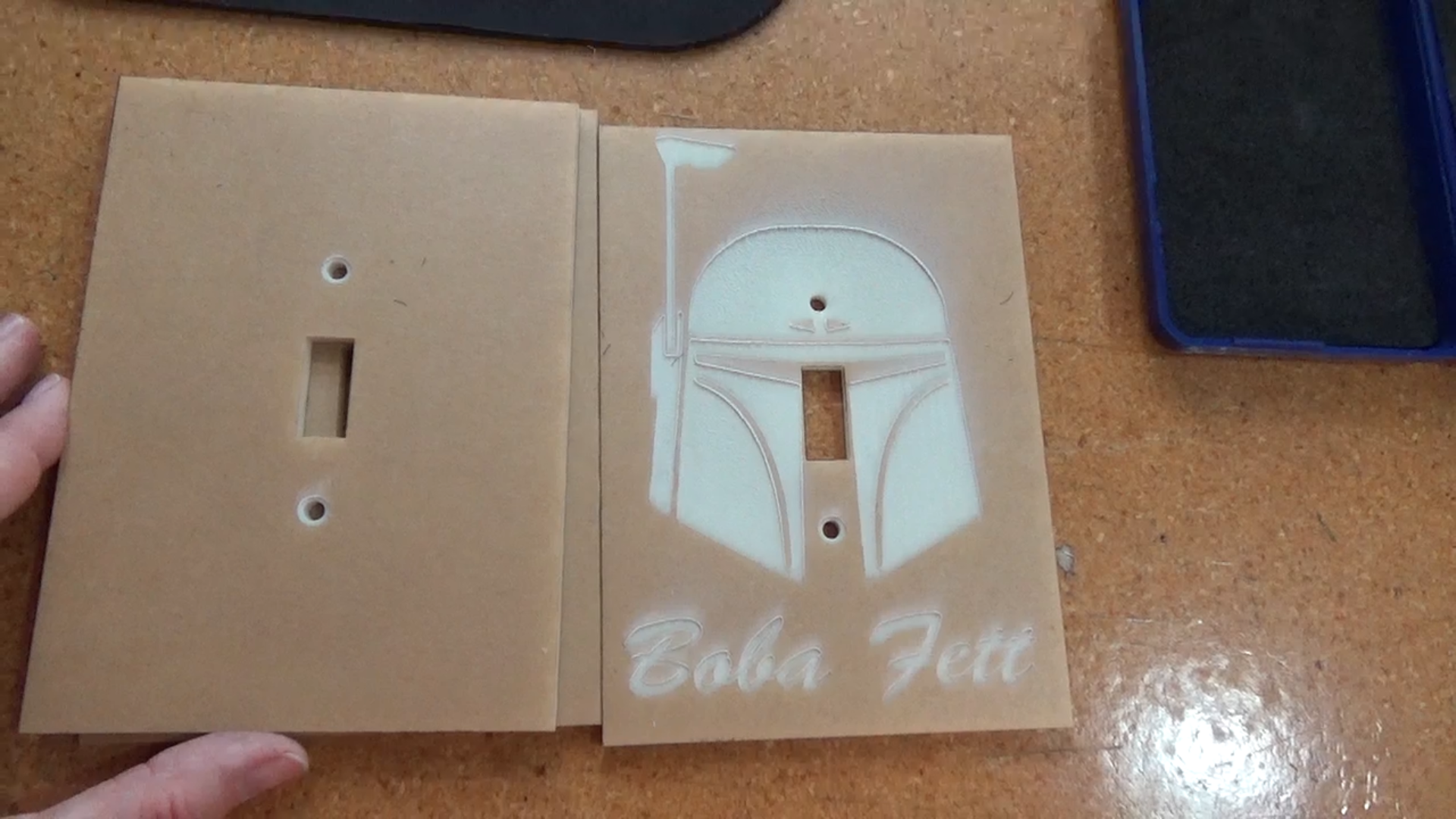Picture of Laser Cut Switch Plates and Additional Components